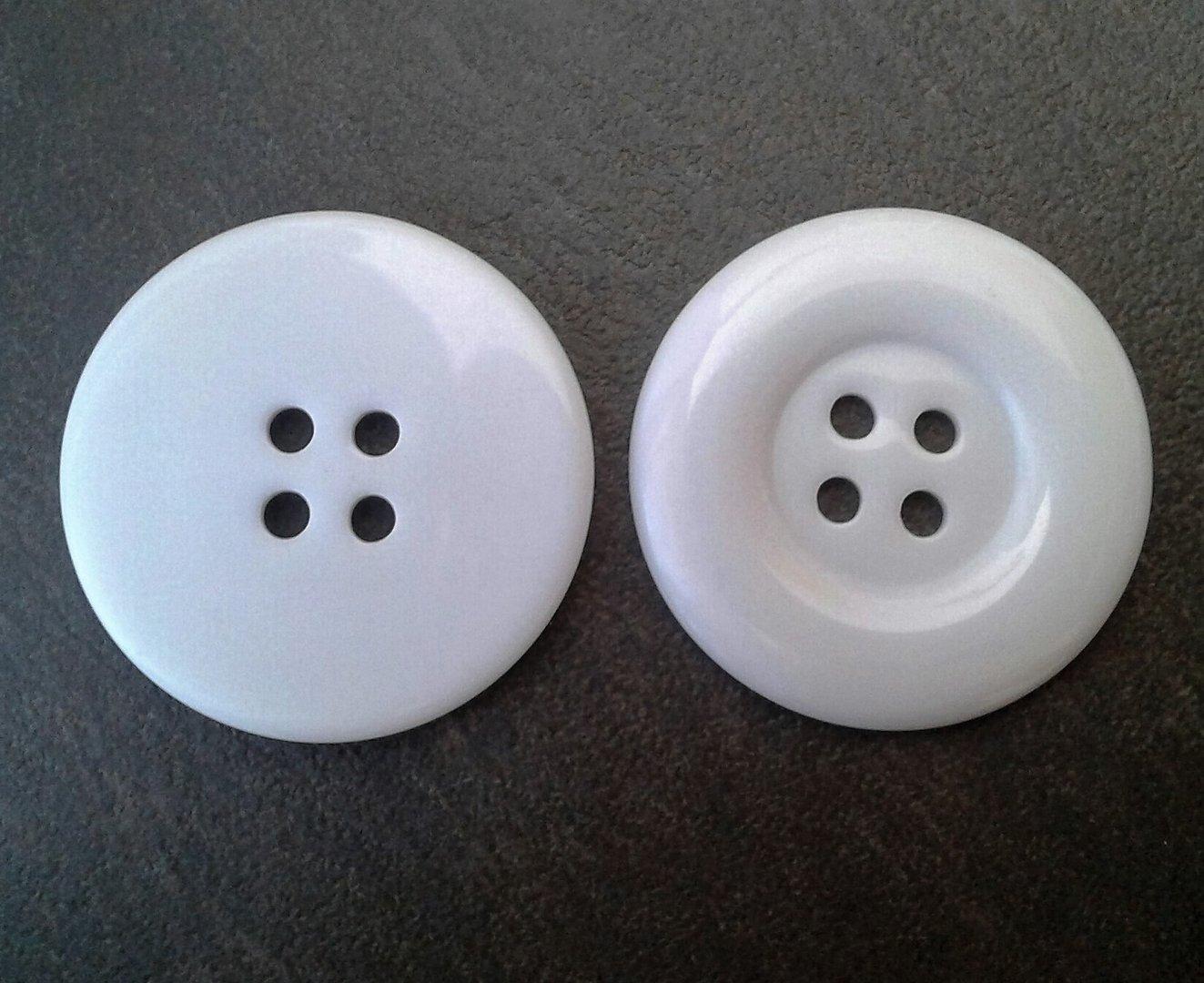 3 gros boutons 34mm blancs la bo te secrets. Black Bedroom Furniture Sets. Home Design Ideas