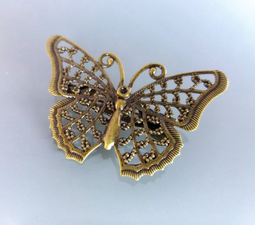 Broche papillon 4,1 cm coloris bronze