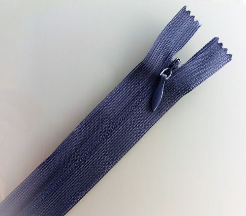 Zip invisible 25 cm bleu marine